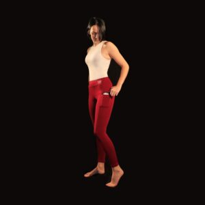 Leggings avec poches laterales rouge AME Sport