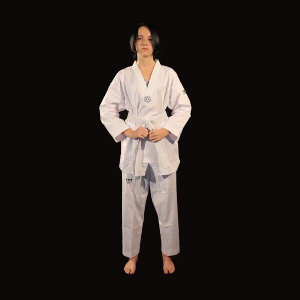 Supreme Warrior dobok col blanc pour adulte AME Sport