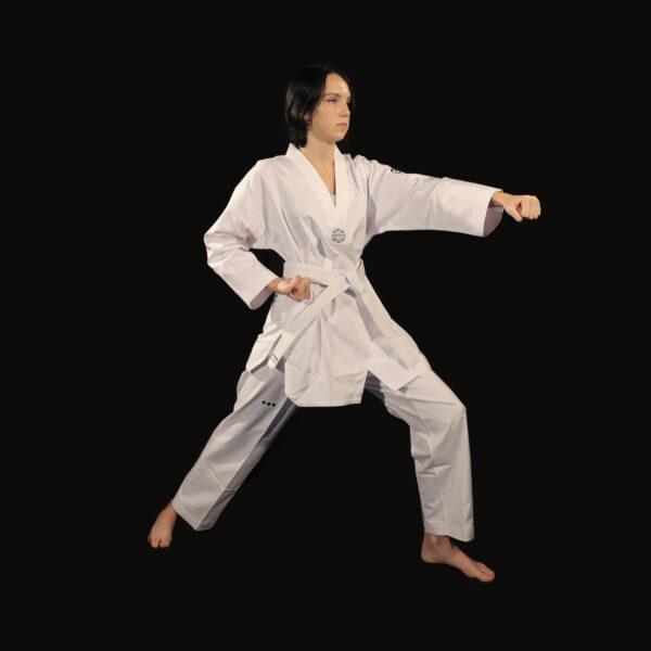 dobok Supreme Warrior uniforme taekwondo AME Sport 3
